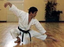 """El Maestro Hirokazu Kanazawa ejecutando """"la serpiente se arrastra"""""""